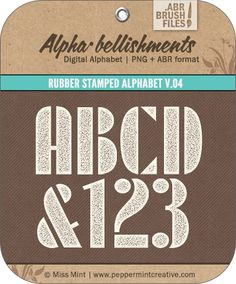 Rubber Stamped Alpha