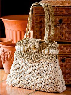 Roberta Crochê e Cia: Bolsas de crochê e tricô