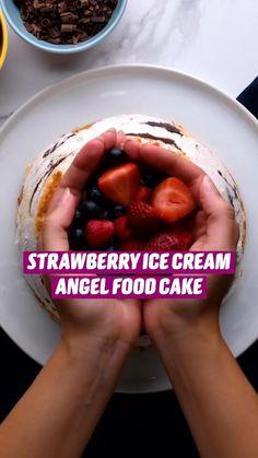 Angle Food Cake Recipes, Fun Baking Recipes, Dessert Recipes, Cooking Recipes, Diy Food, Love Food, Favorite Recipes, Yummy Food, Snacks