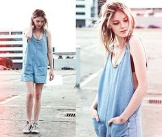 Denim onesie (by Laura Allard-Fleischl)