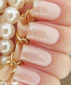 Gold Glitter Prettiest Wedding Nail Art