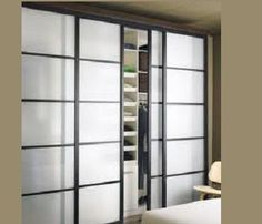 bypass closet door glass   Frosted Glass Closet Doors, Tempered. Recycled, Framed ...