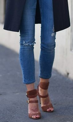 LOVE these heels...and jeans