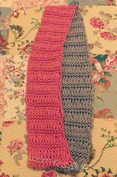 Bufanda infinitas tejidas en telar por Samm