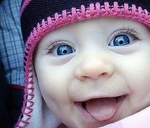 baby photo. A baby's smile is a gift from Heaven. #baby #smile