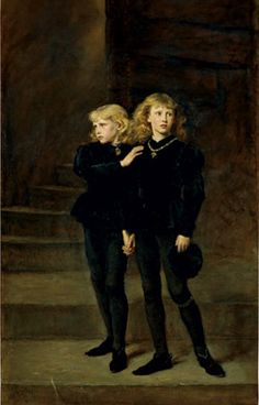 The Two Princes Edward and Richard in the Tower (1878) Picture Gallery of Royal Holloway College by John Everett Mallais