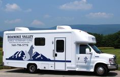 Roanoke Valley Mobile Vet is a custom built 26' state-of-the-art veterinary clinic on wheels. The clinic is equipped with x-ray, blood analyzers, dental unit, and surgical suite. We are able to provide the highest quality veterinary care and treatment for your pets in the comfort and convenience of your home.   Phone (540) 798-5778