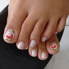 Unhas do Pé Decoradas 1123, #unhasbonitas #UnhasDecoradasSimples #UnhasLindas, Hue, Nails, Beauty, Perfect Nails, Pretty Nails, Nails At Home, Nail Arts, Make Up Looks, Stickers