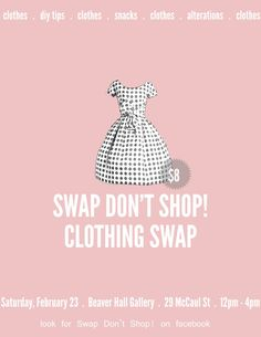 february is for fashion lovers swap dont shop clothing swap flyer