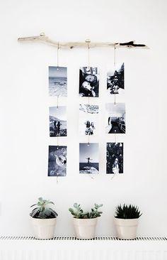 10 Creative DIY Natural Photo Hanger Ideas | House Design And Decor