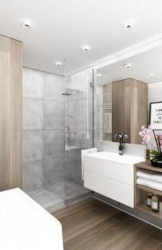 Przytulna i funkcjonalna łazienka - zdjęcie od KAST DESIGN