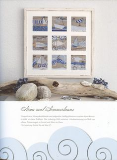Nautical Framed Cross Stitch Blocks