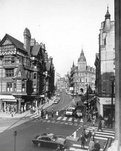 King Street Looking North Towards Parliament Street, Nottingham, 1972 Nottingham City Centre, Nottingham Castle, Nottingham Uk, Wales, Local History, Family History, Council House, Historical Architecture, England Uk
