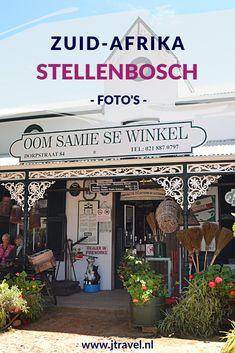 Stellenbosch ligt de bekendste wijnstreek in Zuid-Afrika. Rondom de stad liggen veel wijnestates waar je wijnen kunt proeven. De stad is bekend om Ome Samie se Winkel en zijn Kaaps-Hollandse architectuur. Mijn foto's van Stellenbosch zie je hier. Kijk je mee? #stellenbosch #omesamiesewinkel #zuidafrika #fotos #jtravel #jtravelblog #wijnstreek