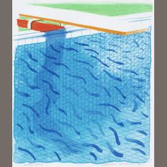 David Hockney R.A. (British, born 1937) Paper Pools (MCA Tokyo 234)  Lithograph in colours, 1980, on Arches cover paper, signed and dated in pencil, numbered 678/1000, published by Tyler Graphics, Ltd., Mount Kisco, New York, 1980, with their blindstamp; with the accompanying book Paper Pools, with title, text and justification, signed by the artist on the justification in red ink, copy 678 of 1000, within the original blue canvas cloth binding and slipcase, 265 x 225mm (10 1/8 x 8…