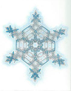 Light Blue Celtic Knot Snowflake