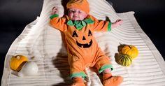 Kürbiskostüm selber machen: Nähanleitung - Freizeit - Hilfreich.de How to refashion standard clothes to make a pumpkin costume for a baby. In German.