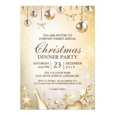 golden ornaments christmas corporate holiday party card holiday party invitations christmas greeting cards holiday