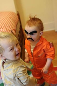 scary! LOL OMG WHO WOULD DO THIS. Those faces are classic! lol i think he's supposed to be a mean guy from prison lol. They couldn't have gotten a more perfect shot lol. Poor little guy.