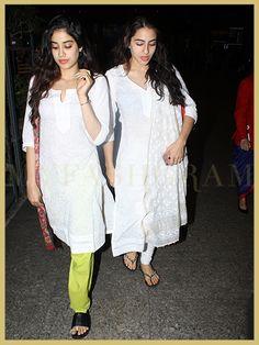 Sara Ali Khan and Jhanvi Kapoor, Airport Style, MyFashgram