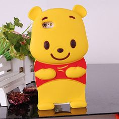 3D Winnie Pooh Silicone Back Cover Case for iPhone 5