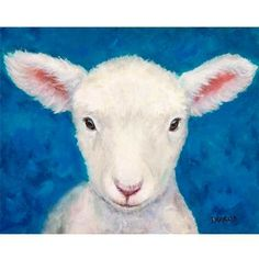 Sheep Art  Print of Original Acrylic Painting  by DottieDracos (Art & Collectibles, Prints, reproduction, farm, rural, farm animals, country life, farm art, goat painting, farm animal art, sheep, sheep art, lamb, lamb art, sheep painting)