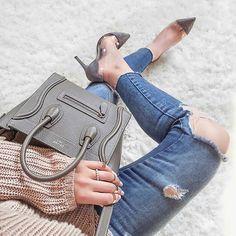 """164357f1f4b9 Céline s World on Instagram  """" setamoon in  Celine nano luggage and  Zara"""