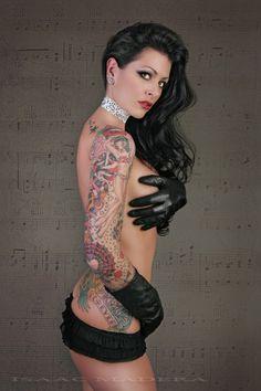 Chantil Tattooed Model San Clemente, CA