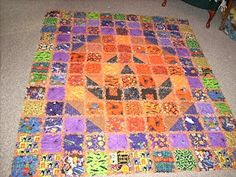 Aunt Polly's Porch:Pumpkin square quilt