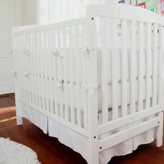 White Baby Bedding | Solid White Crib Bedding | Carousel Designs