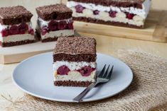 Cocoa sponge cake layered with halva cream, lady finger biscuits and cherries in jelly. How To Make Halva, Lady Finger Biscuit, Halva Recipe, Cherry Syrup, Chocolate Sponge Cake, Custard Powder, Cake Mixture, Cherry Cake, Take The Cake