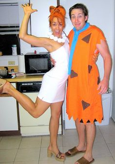 DIY Wilma costume--super easy. Fred--make from an orange sheet!