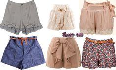 Diário da Moda: Modelos de Short pra mandar fazer!