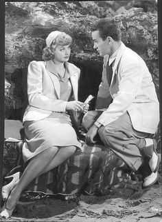 """Lucy and Richard Carlson .. From the 1940 film, """"Too Many Girls"""""""