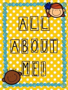 Back to school All About Me poster!
