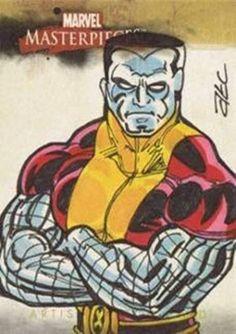 Marvel Masterpieces 2008 • Sketch Card • Colossus • Adam Cleveland