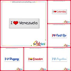 Bumpers for car, stickers, países, country Latin,