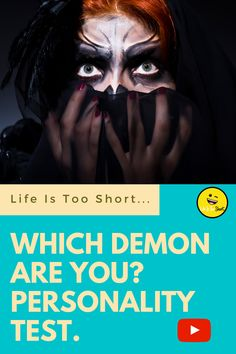 Which Demon Are You? Personality Test.. Weird Gif, Life Is Short, Funny Comics, Personality, Funny Memes, Humor, Youtube, Movie Posters, Film Poster
