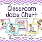 This bright and cheery class helpers chart is perfect for any chevron themed classroom! Each job is illustrated with adorable Scrappin Doodles Clip...