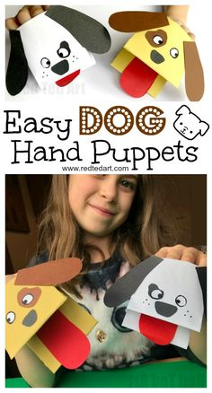 Paper Dog Hand Puppet. Oh my, these Dog Paper Puppets are just SO CUTE! And not just cute but ridiculously EASY to make. If you love Dog Crafts for Kids and need a quick and easy Paper Dog DIY, do check these out.. so fun!!! #Dog #dogs #dogcrafts #dogdiy #paperdog #papercrafts #chinesenewyear