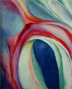 Music Pink and Blue II - Georgia O'Keeffe