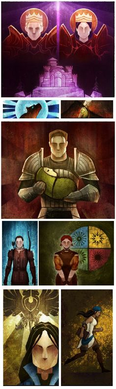 Dragon Age: Inquisition - Art Tiles from Dragon Age Keep beta