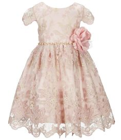 4856e5092cd Rare Editions Little Girls Embroidered Fit-And-Flare Dress