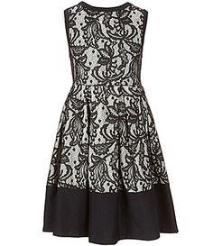 430b34c7ca5 Bonnie Jean Big Girls 7-16 Sleeveless Bonded Lace A-Line Dress | Dillards