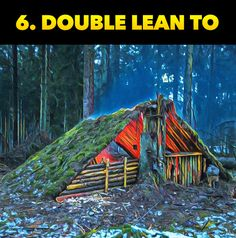 Double Lean To Shelter. The TOP 10 Survival & Bushcraft Shelters to keep you alive during an emergency! See all 10 shelters by clicking the image! The ten best shelters you can build in survival si Survival Shelter, Survival Food, Wilderness Survival, Camping Survival, Outdoor Survival, Survival Prepping, Survival Skills, Survival Hacks, Survival Supplies