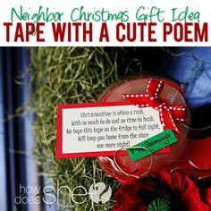 Neighbor Christmas tape