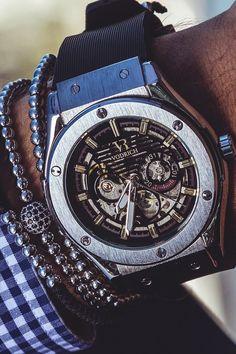 """vividessentials: """"VODRICH Geared IV Watch - $79.00 VODRICH Silver Macrame Stack - $45.00Buy yours here. """""""