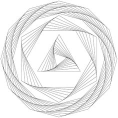 Don't Eat the Paste: Drawing geometric whirls- with templates!