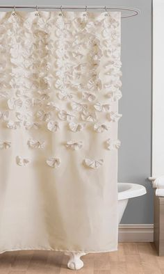 Ivory Lucia Shower Curtain