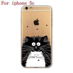 iPhone Case For Apple iPhone 4 4S 5 5S SE 5C 6 6S 6Plus 6s Plus Soft TPU Silicon Transparent Thin Cover Cute Cat Owl Animal Case